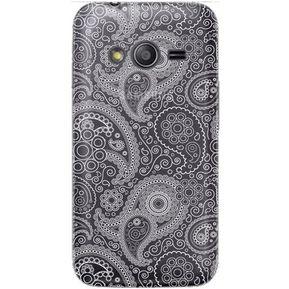 ef845034499 Case Samsung Galaxy Ace 4 - Paisley Transparente con Blanco