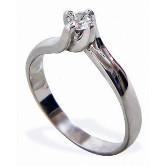 cdd36281d589f Anillo De Compromiso Solitario Diamond Desing Diamante Natural 15 Puntos  Con Montadura De Oro Blanco De