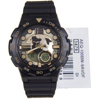 Casio Aeq Masculino 100bw Negro Reloj 9av 9YHEWD2I