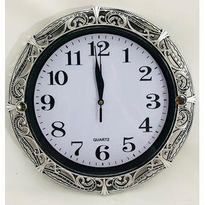d4573e41a263 Reloj Circular Pared Vintage 30 Cm Elegante grabado tipo repujado 3 Color