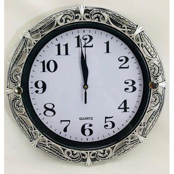 Pared 30 Grabado Repujado Color Vintage Circular 3 Reloj Cm Elegante Tipo Yf6y7bgv