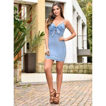Vestido Corto Outfit 905 Para Mujer Azul