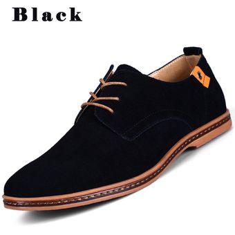 Zapatos Hombres En Con 2017 Hombre Negro Británico Casual Super Tamaño Nuevos Gran Cuero TF1c3KulJ5