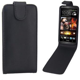 3a95c0fe868 Para HTC Desire 601 / Zara Vertical Flip Magnetic Snap Leather Case (Black)