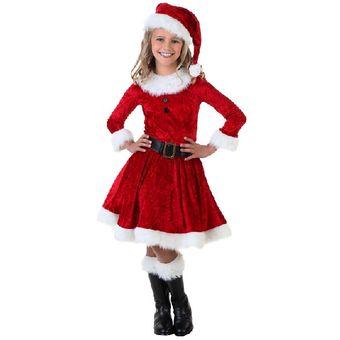Disfraz Tudi De Santa Claus Niña Pastorela Festival Navidad