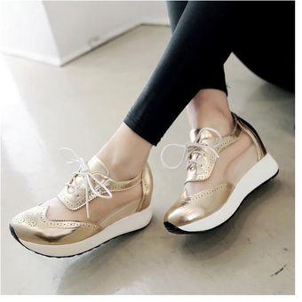 b2607412 Mujer zapatos Sandalias de plataforma estilo deportivo y comodo de color  dorado