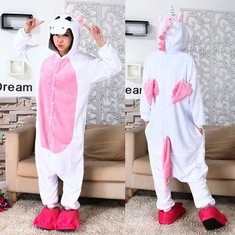 e14a3519b804 Unicornio De La Franela De Los Pijamas Del Traje De Cosplay Del Anime -  Rosa (