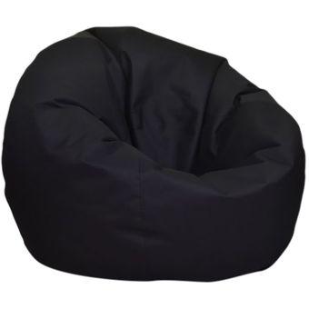 Puff Redondo Negro Lona Impermeable Dormipuff Linio