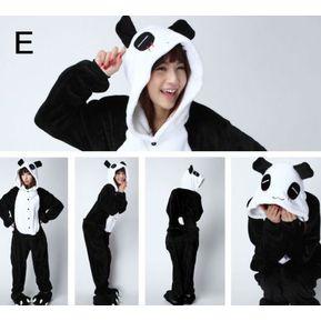 Unisex Cálido Pijamas Mamelucos Para Adultos Cosplay Animales De Vestuario  Ropa De Dormir -Panda 6508d14cb47b