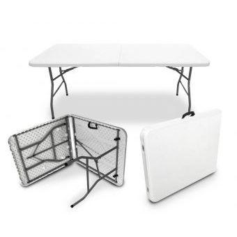 Compra mesa plegable plastico tipo portafolio largo for Mesa plastico jardin