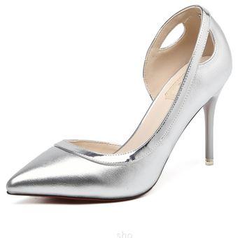 Compra Zapatos Mujer Con Hueco De Tacones Stiletto - Plata online ... f20f03e3876e