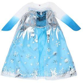 38bf9792fb EY Nueva Princess Niñas Costume Party Fancy Dress Cape Reina De Congelación  De Nieve-Blue