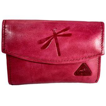 c101fdb3d Billetera Cartera Monedero Cuero Mujer Dama Corta Pequeña Color Rosado