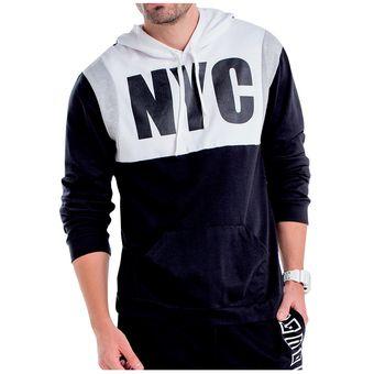 51ce509e4eea2 Compra Buzo Juvenil Marketing Personal Para Hombre Negro Blanco ...
