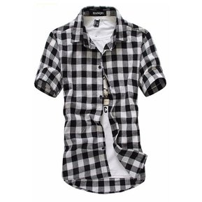 dbb35b71341 Camisa Manga Corta para Hombres-Negro