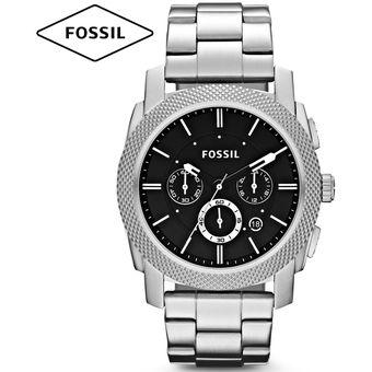 4aca8322dfb4 Reloj Fossil Machine FS4776 Cronómetro Acero Inoxidable - Plateado Negro