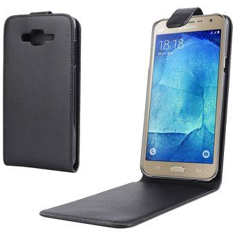 6cce18c88f9 Nappa Textura Vertical Flip Magnetic Snap - Funda De Cuero Para Samsung  Galaxy J7 (negro