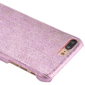 d7a049189a1 Para IPhone 8 Plus Y 7 PLUS PC Brilla Rayas Patron Protector Carcasa Trasera  (oro