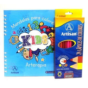 Kit Libro Mandalas Para Colorear Kids Colores X 24 Und Artisan Linio Colombia Ar149tb14pc0jlco
