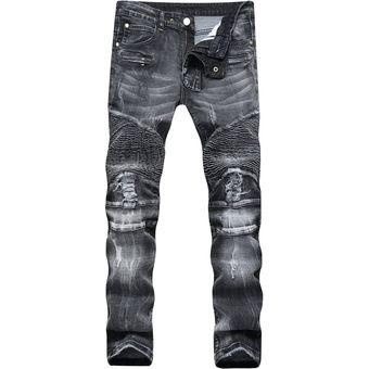 a80ec9073 hombres de largo los pantalones vaqueros Robin pantalones chico agujero  madura moda casual encantador a muchacho