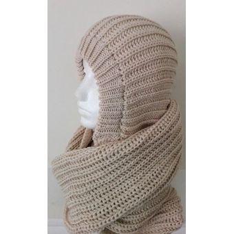 nueva estilos fad91 41a43 Cuello Bufanda Tubular Tejidas Hombre Mujer Fashion Beige
