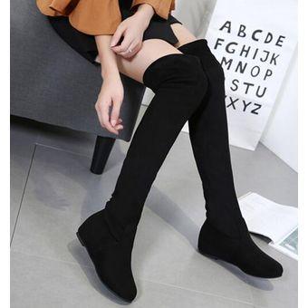 feef78acc6 Compra Mujer Botas Largas Estilo Elegante Y Modelo De Color Negro ...