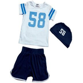 309a413f6e191 Conjunto Bebe Masculino Marketing Personal 85864 Azul Blanco
