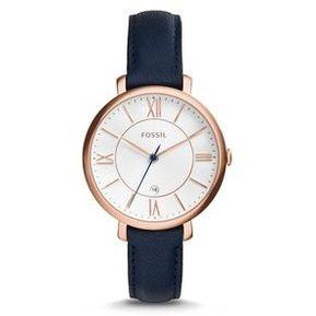 07062bbbe55b Reloj Fossil ES3843 Dama Jacqueline Navy Leather -Azul   Oro Rosa