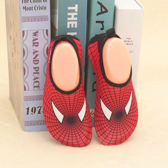 f5b30bec403 Zapatos Acuáticos Hombre Araña De Los Niños Suave Playa De Arena - Rojo