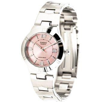 299277cd01f3 Agotado Reloj Casio Dama Modelo Ltp-1241d-4a Com Fecha Fondo Rosa Original