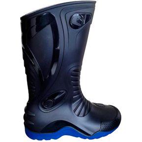 9479cb3412c51 Botas de lluvia impermeables Dakar Motociclismo Unisex Idecal Negro Azul
