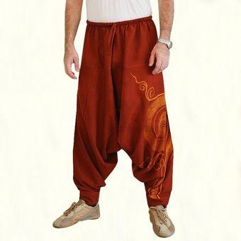 Pantalones Harem Alibaba Hippie Gitano Aladdin Pantalones Informales De Yoga Indio Para Hombres Wot Orange Linio Colombia Ge063fa0rs6d7lco