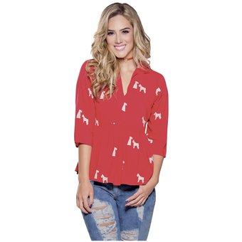 8f938875e Compra Blusa Juvenil Femenino Marketing Personal 16599 Rojo Est ...