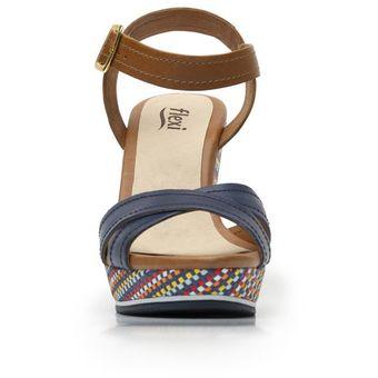 4446240fbddcb Compra Sandalia Flexi Para Mujer Plataforma - 44904 Azul online ...