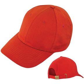 bb8bd8e499c71 Gorra 6 Cascos En Drill 6 Ojetes Bordados Cierre Metalico - Rojo