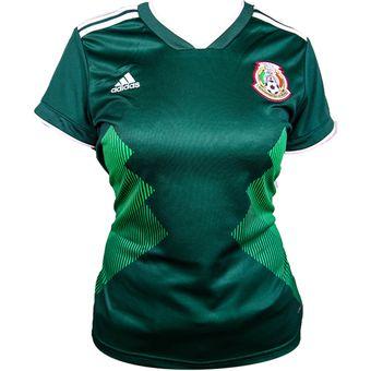 a29143a7687fb Compra Jersey Local Selección México Rusia 2018 - Mujer online ...