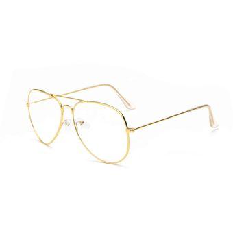 Compra Los Anteojos Gafas Transparentes Espejo De Metal Unisex-oro ... f3d6d1f9e1ec
