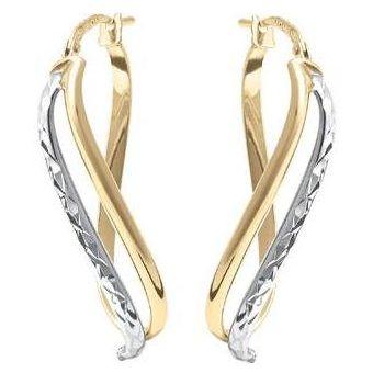0cff45d58265 Compra Arracadas Cristal Joyas Oro Blanco Y Amarillo 14 K online ...