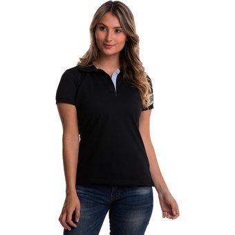 Compra Camiseta Tipo Polo HAMER Mujer 002 Negro online  c05a10108f4bf