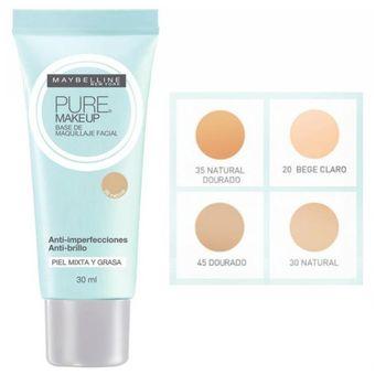2fdf0c1e4 Compra Base Maquillaje Maybelline Pure Makeup 20 Beige Claro online ...