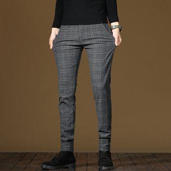 Nuevos Pantalones Calidos Informales De Invierno Para Hombre Pantalones Gruesos De Tela Escocesa A La Moda De Negocios Pantalones Elasticos De Oficina Marca Masculina Wt Fleece1950 Gray Linio Peru Ge582fa1fktgzlpe