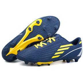 48aaa7f28d1fb Zapatillas niños para fútbol con clavos pequños antideslizante - Azul marino