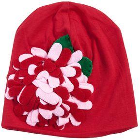 Elegante bebés grande beanie sombrero 1 flor adornado rxnrqw14W