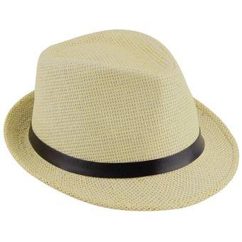 EW Elegante Sombrero de paja del verano del casquillo del sombrero salacot  Fedora Trilby Panamá casquillo 465557ff7b6
