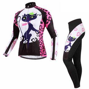 Set Poliéster Licra Y Jersey Ciclismo Mtb Ruta Bicicleta Mujer BATFOX BT001 e5c38e5cba523