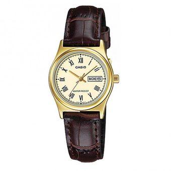 47e347b94b89 Compra Reloj Casio Mujer LTP-V006GL-9B Análogo Pulso Cuero Indicador ...
