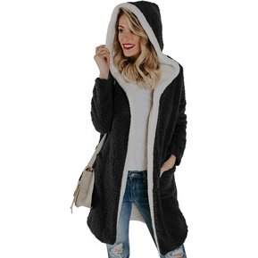 Mujer Chaquetas y abrigos Cardigan Hoodies-Negro 56e1eb7b63c2