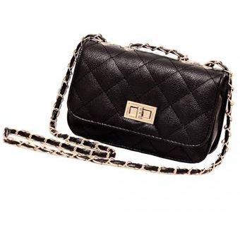 34c9151f48e Compra Mini Bolsas De Cuero Cadena Cruzada Para Dama Mujer - Negro ...