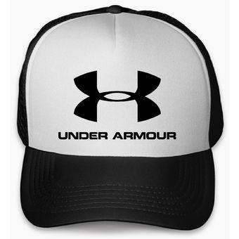 Compra Gorra Negra Frente Blanco Personalizada Logo Under Armour ... c56de139a64