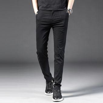 Pantalones Informales De Primavera Y Otono Para Hombre Finos Color Negro Gris Verde Para Hombr Linio Chile Ge018fa0etyp9lacl
